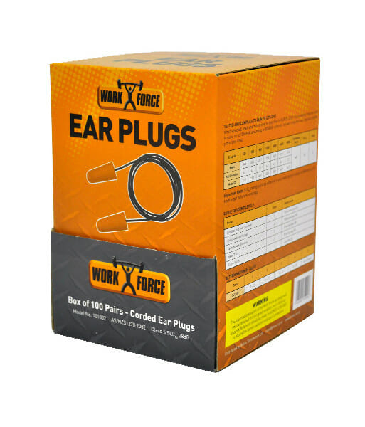 101002 bullet shaped corded ear plugs side front