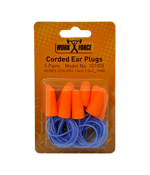 101005 corded ear plugs front