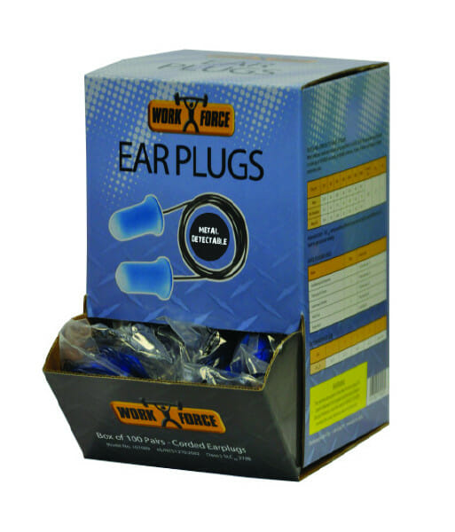 101009 metal detectable earplugs side front