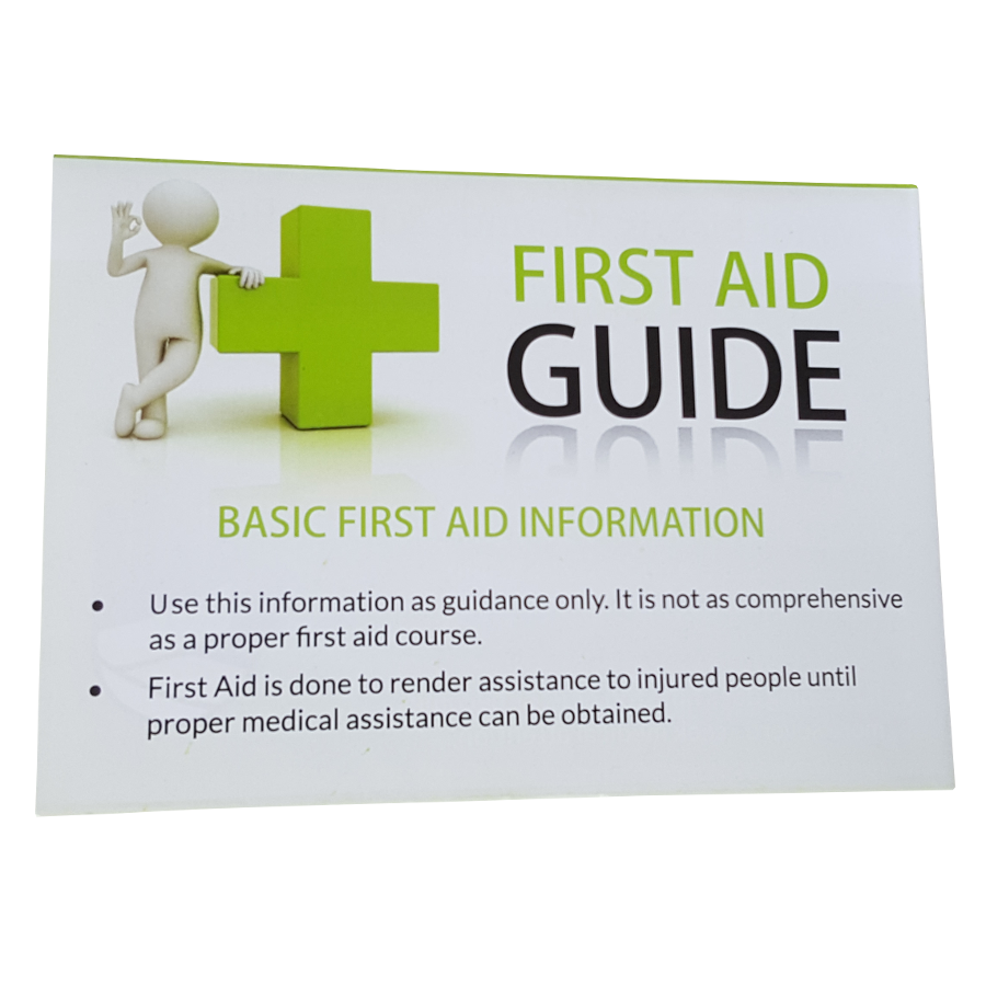 MCR004 first aid tips front