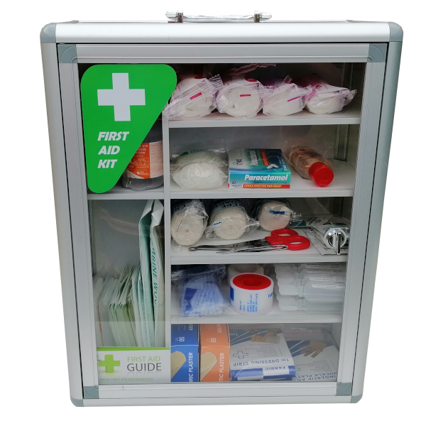 first aid cabinet front
